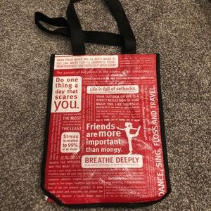 """Retired Lululemon small quotes bag """"friends..."""""""